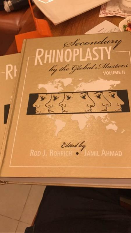 Rhinoplasty Secondary medical illustration cover
