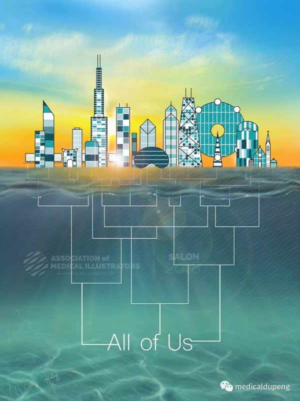 美国国立卫生研究院计划:我们所有人 The National Institutes of Health program: All of Us 美国医学插画师协会 2018 沙龙展