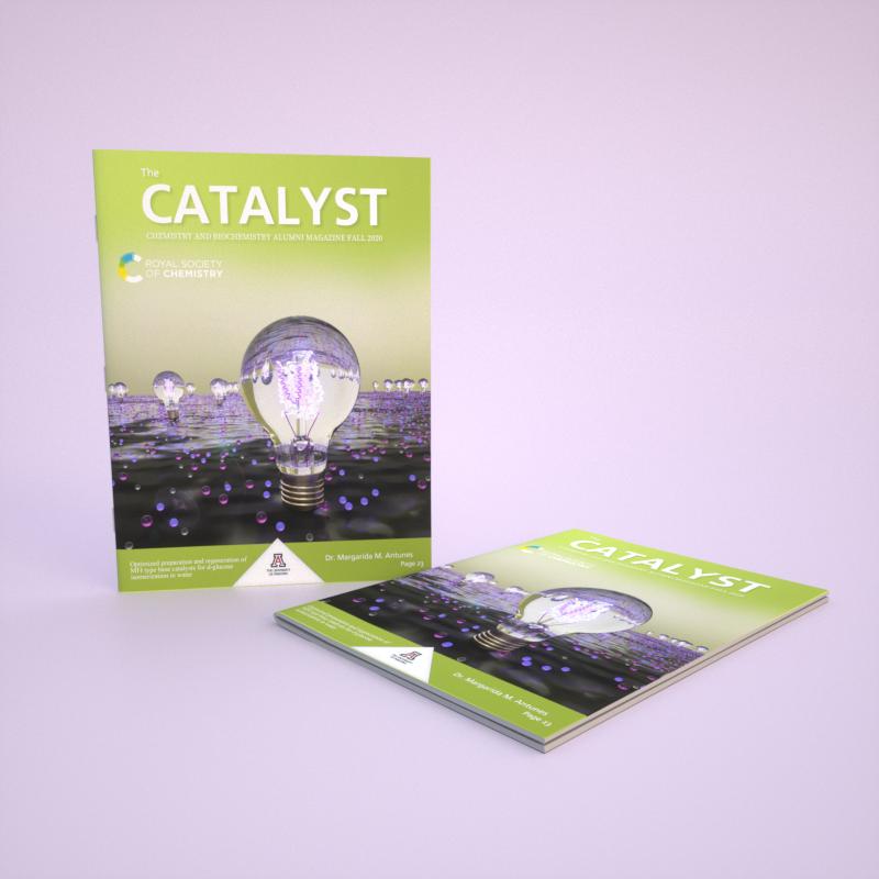 3D渲染下杂志效果 University of Arizona 《Catalyst》Fall 2020 - 医学插画师-动画师-阿杜的原创生物医学可视化社团作品