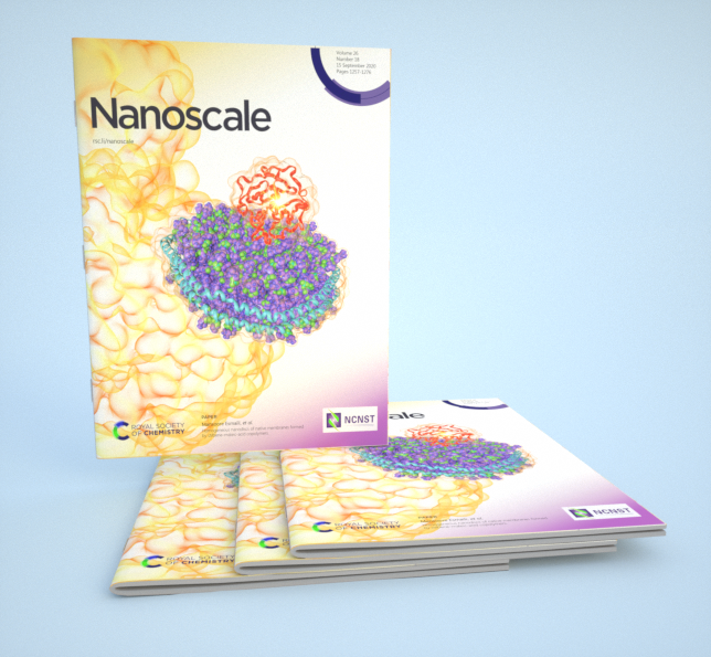 3D渲染下杂志效果 Royal Society of Chemistry《Nanoscale》Volume 26 - 医学插画师-动画师-阿杜的原创生物医学可视化社团作品